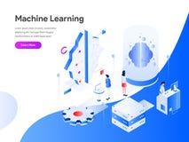 Begrepp för illustration för lära för maskin isometriskt r vektor illustrationer