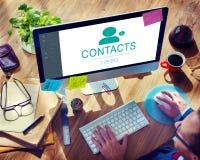 Begrepp för information om kommunikation för kontaktadressbok Arkivfoto