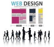 Begrepp för information om massmedia för idéer för Website för nätverk för rengöringsdukdesign Royaltyfria Foton