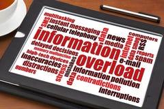 Begrepp för informationsöverbelastning Arkivfoto