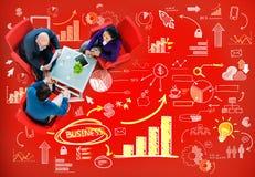 Begrepp för innovation för idéer för data för strategiplanmarknadsföring royaltyfria foton