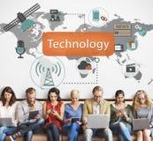 Begrepp för innovation för teknologiDigital evolution Arkivbilder