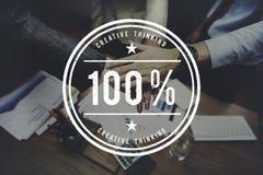 Begrepp 100% för inspiration för kreativitetidéfantasi Arkivbild
