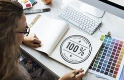 Begrepp 100% för inspiration för kreativitetidéfantasi Royaltyfria Foton