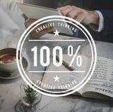 Begrepp 100% för inspiration för kreativitetidéfantasi Royaltyfri Foto