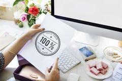 Begrepp 100% för inspiration för kreativitetidéfantasi Royaltyfria Bilder