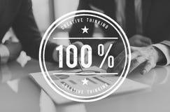 Begrepp 100% för inspiration för kreativitetidéfantasi Royaltyfri Bild