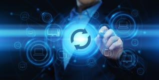 Begrepp för internet för teknologi för affär för förbättring för uppdateringprogramvarudataprogram royaltyfri illustrationer