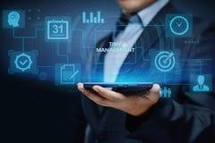 Begrepp för internet för teknologi för affär för mål för strategi för effektivitet för projekt för Tid ledning royaltyfri bild