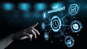 Begrepp för internet för teknologi för affär för mål för strategi för effektivitet för projekt för Tid ledning arkivfoton