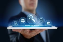 Begrepp för internet för teknologi för affär för strategi för marknadsföring för marknadsforskning royaltyfria foton