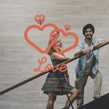 Begrepp för intimitet för romans för förälskelseaffektionpassion royaltyfri foto