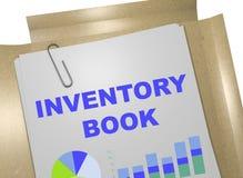 Begrepp för inventariumbok stock illustrationer