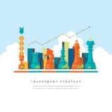 Begrepp för investeringstrategi Fotografering för Bildbyråer