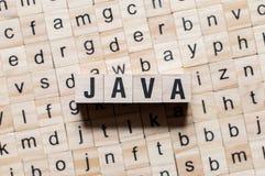 Begrepp för Java programmera språkord royaltyfri fotografi