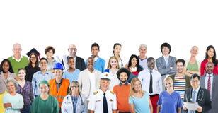Begrepp för jobb för olikt multietniskt folk för grupp olikt Arkivfoton