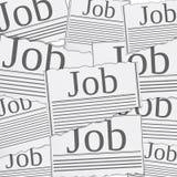 Begrepp för jobbsökande Arkivbilder