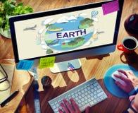 Begrepp för jordklot för beskydd för jordekologimiljö royaltyfria foton