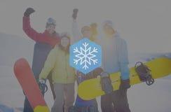 Begrepp för jul för häftig snöstorm för snövintersnöflinga Arkivfoton
