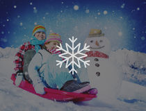 Begrepp för jul för häftig snöstorm för snövintersnöflinga Royaltyfri Fotografi