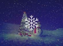 Begrepp för jul för häftig snöstorm för snövintersnöflinga Royaltyfria Foton