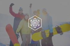 Begrepp för jul för häftig snöstorm för snövintersnöflinga Royaltyfria Bilder