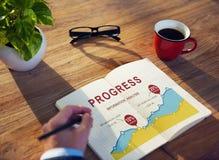 Begrepp för kapacitet för analys för rapport för tillväxt för affärsdata arkivbild