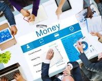 Begrepp för kassa för nationalekonomi för pengarbudgetfinans royaltyfri bild