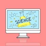 Begrepp för kemikalie för formel för vetenskapsexperimentlaboratorium royaltyfri illustrationer
