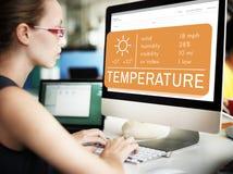 Begrepp för klimat för varmt väder för temperaturvärme arkivfoton