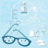 Begrepp för klinik för medicinsk doktor för ögonläkare ophthalmological royaltyfri illustrationer