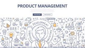 Begrepp för klotter för produktledning royaltyfri illustrationer