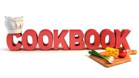 Begrepp för kokbok 3d Royaltyfri Fotografi