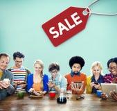 Begrepp för kommers för etikett för Sale rabattetikett Royaltyfri Bild