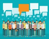 Begrepp för kommunikation för gruppfolkaffär stock illustrationer