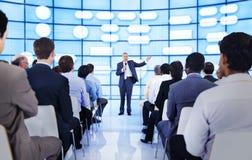 Begrepp för konferens för seminarium för affärsfolk företags royaltyfri foto