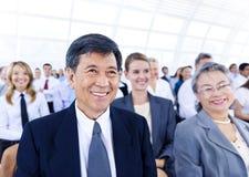 Begrepp för konferens för seminarium för affärsfolk företags Arkivfoto