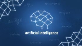 Begrepp för konstgjord intelligens Hjärna som en tråd, en sammanslagning av kunskap och matematiska formler stock illustrationer