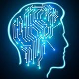 Begrepp för konstgjord intelligens och innovation Royaltyfri Foto
