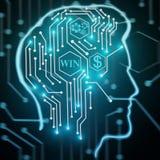 Begrepp för konstgjord intelligens och kommunikations Arkivbilder