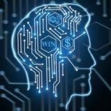 Begrepp för konstgjord intelligens och teknologi Royaltyfria Foton