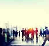 Begrepp för konversation för anslutning för affärsfolk talande vektor illustrationer