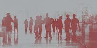 Begrepp för konversation för anslutning för affärsfolk talande stock illustrationer