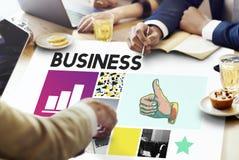 Begrepp för korporation för tillväxt för affärsstrategi Arkivfoton