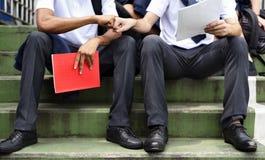 Begrepp för kunskap för utbildningsstudentfolk royaltyfria bilder