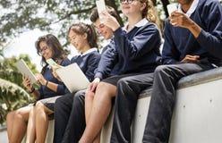 Begrepp för kunskap för utbildningsstudentfolk arkivfoton