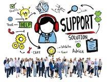 Begrepp för kvalitet för tillfredsställelse för omsorg för hjälp för servicelösningsrådgivning vektor illustrationer