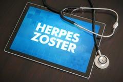 Begrepp för läkarundersökning för diagnos för herpeszoster (smittsam sjukdom) Arkivbilder