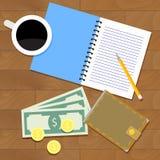 Begrepp för lönmunplanläggning Royaltyfri Bild
