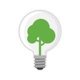 Begrepp för lösning för träd för gräsplan för elkraft för illustration för vektor för lägenhet för design för kula för tecknad fi vektor illustrationer
